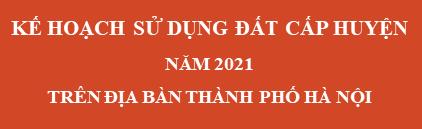 Kế hoạch sử dụng đất cấp huyện 2020